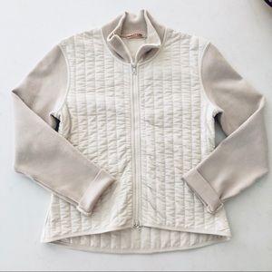 PRADA nude zipper jacket L